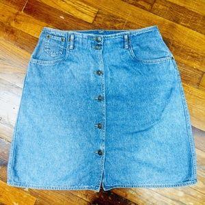 Liz wear retro vintage size 12 denim skirt
